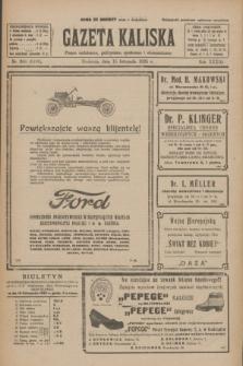 Gazeta Kaliska : pismo codzienne, polityczne, społeczne i ekonomiczne. R.33, nr 266 (15 listopada 1925) = nr 8193