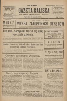 Gazeta Kaliska : pismo codzienne, polityczne, społeczne i ekonomiczne. R.33, nr 270 (20 listopada 1925) = nr 8197
