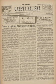 Gazeta Kaliska : pismo codzienne, polityczne, społeczne i ekonomiczne. R.33, nr 276 (27 listopada 1925) = nr 8203