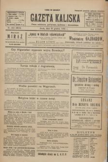 Gazeta Kaliska : pismo codzienne, polityczne, społeczne i ekonomiczne. R.33, nr 301 (30 grudnia 1925) = nr 8228