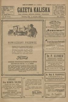 Gazeta Kaliska : pismo codzienne, polityczne, społeczne i ekonomiczne. R.34, nr 13 (17 stycznia 1926) = nr 8242