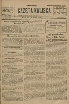 Gazeta Kaliska : pismo codzienne, polityczne, społeczne i ekonomiczne. R.34, nr 14 (19 stycznia 1926) = nr 8243