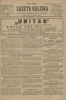 Gazeta Kaliska : pismo codzienne, polityczne, społeczne i ekonomiczne. R.34, nr 23 (29 stycznia 1926) = nr 8252