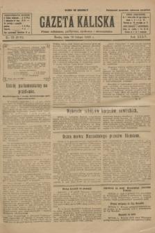 Gazeta Kaliska : pismo codzienne, polityczne, społeczne i ekonomiczne. R.34, nr 33 (10 lutego 1926) = nr 8261