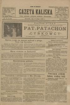 Gazeta Kaliska : pismo codzienne, polityczne, społeczne i ekonomiczne. R.34, nr 34 (11 lutego 1926) = nr 8262