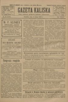 Gazeta Kaliska : pismo codzienne, polityczne, społeczne i ekonomiczne. R.34, nr 37 (14 lutego 1926) = nr 8265