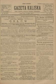 Gazeta Kaliska : pismo codzienne, polityczne, społeczne i ekonomiczne. R.34, nr 39 (17 lutego 1926) = nr 8267