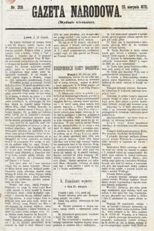 Gazeta Narodowa (wydanie wieczorne). 1870, nr209