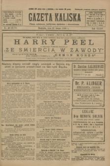 Gazeta Kaliska : pismo codzienne, polityczne, społeczne i ekonomiczne. R.34, nr 43 (21 lutego 1926) = nr 8271