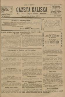 Gazeta Kaliska : pismo codzienne, polityczne, społeczne i ekonomiczne. R.34, nr 46 (25 lutego 1926) = nr 8274