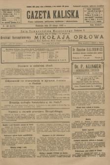 Gazeta Kaliska : pismo codzienne, polityczne, społeczne i ekonomiczne. R.34, nr 49 (28 lutego 1926) = nr 8277
