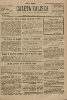 Gazeta Kaliska : pismo codzienne, polityczne, społeczne i ekonomiczne. R.34, nr 60 (13 marca 1926) = nr 8288