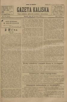 Gazeta Kaliska : pismo codzienne, polityczne, społeczne i ekonomiczne. R.34, nr 84 (13 kwietnia 1926) = nr 8312