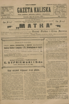 Gazeta Kaliska : pismo codzienne, polityczne, społeczne i ekonomiczne. R.34, nr 98 (29 kwietnia 1926) = nr 8326
