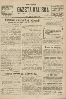 Gazeta Kaliska : pismo codzienne, polityczne, społeczne i ekonomiczne. R.34, nr 112 (18 maja 1926) = nr 8340