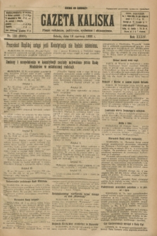 Gazeta Kaliska : pismo codzienne, polityczne, społeczne i ekonomiczne. R.34, nr 138 (19 czerwca 1926) = nr 8366