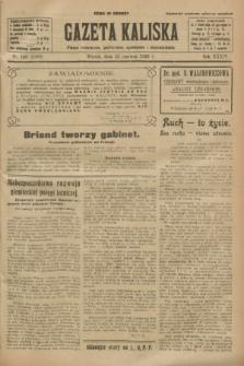 Gazeta Kaliska : pismo codzienne, polityczne, społeczne i ekonomiczne. R.34, nr 140 (22 czerwca 1926) = nr 8368