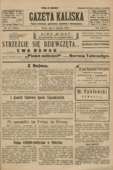 Gazeta Kaliska : pismo codzienne, polityczne, społeczne i ekonomiczne. R.34, nr 176 (4 sierpnia 1926) = nr 8404