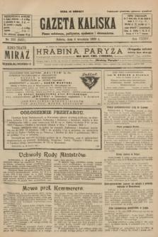 Gazeta Kaliska : pismo codzienne, polityczne, społeczne i ekonomiczne. R.34, nr 203 (4 września 1926) = nr 8431
