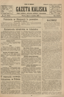 Gazeta Kaliska : pismo codzienne, polityczne, społeczne i ekonomiczne. R.34, nr 217 (21 września 1926) = nr 8445