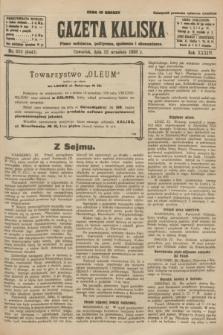 Gazeta Kaliska : pismo codzienne, polityczne, społeczne i ekonomiczne. R.34, nr 219 (23 września 1926) = nr 8447