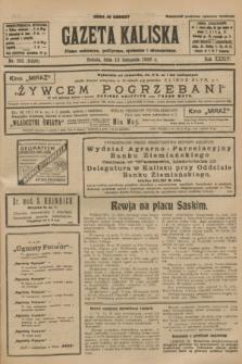 Gazeta Kaliska : pismo codzienne, polityczne, społeczne i ekonomiczne. R.34, nr 262 (13 listopada 1926) = nr 8490