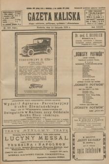 Gazeta Kaliska : pismo codzienne, polityczne, społeczne i ekonomiczne. R.34, nr 263 (14 listopada 1926) = nr 8491