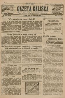 Gazeta Kaliska : pismo codzienne, polityczne, społeczne i ekonomiczne. R.34, nr 270 (23 listopada 1926) = nr 8498
