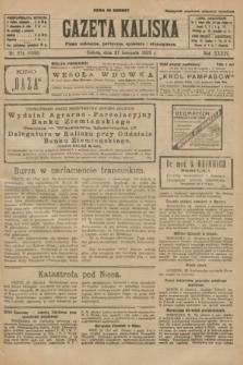 Gazeta Kaliska : pismo codzienne, polityczne, społeczne i ekonomiczne. R.34, nr 274 (27 listopada 1926) = nr 8502