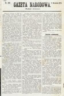 Gazeta Narodowa (wydanie wieczorne). 1870, nr223