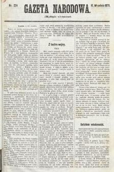 Gazeta Narodowa (wydanie wieczorne). 1870, nr224
