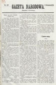 Gazeta Narodowa (wydanie wieczorne). 1870, nr227