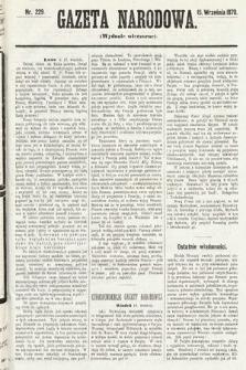 Gazeta Narodowa (wydanie wieczorne). 1870, nr229