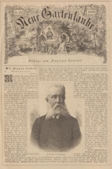 """Neue Gartenlaube : Beilage zum """"Danziger Courier"""". 1893, № 15 ([9 April])"""