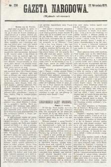 Gazeta Narodowa (wydanie wieczorne). 1870, nr236