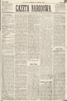 Gazeta Narodowa. 1870, nr242