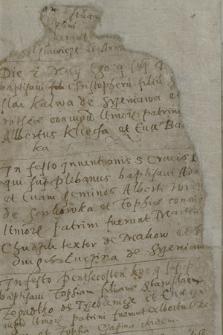Metryki chrztów z lat 1606-1628 i ślubów z lat 1602-1631 kościoła parafialnego w Szreniawie, pow. księski