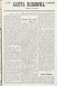 Gazeta Narodowa (wydanie wieczorne). 1870, nr279
