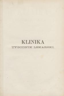 Klinika : tygodnik lekarski. Spis przedmiotów w tomie piątym zawartych. R.4, T.5 (1869)
