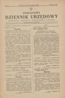 Powiatowy Dziennik Urzędowy Starostwa i Wydziału Powiatowego w Bochni. R.13, nr 6 (22 grudnia 1927)