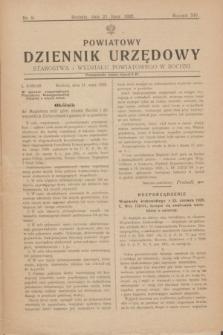 Powiatowy Dziennik Urzędowy Starostwa i Wydziału Powiatowego w Bochni. R.14, nr 9 (21 lipca 1928)