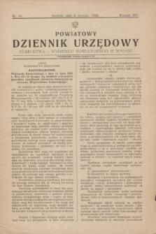 Powiatowy Dziennik Urzędowy Starostwa i Wydziału Powiatowego w Bochni. R.14, nr 10 (8 sierpnia 1928)