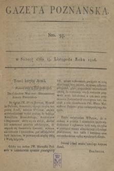 Gazeta Poznańska. 1806, Nro. 93 (15 listopada)