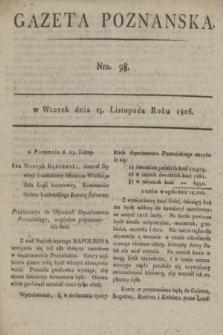 Gazeta Poznańska. 1806, Nro. 98 (25 listopada)