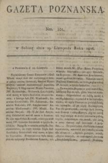 Gazeta Poznańska. 1806, Nro. 101 (29 listopada)
