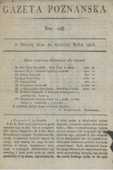 Gazeta Poznańska. 1806, Nro. 108 (20 grudnia) + dod.