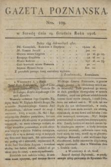 Gazeta Poznańska. 1806, Nro. 109 (24 grudnia) + dod.