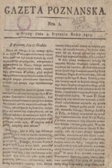 Gazeta Poznańska. 1815, Nro. 1 (4 stycznia) + dod.
