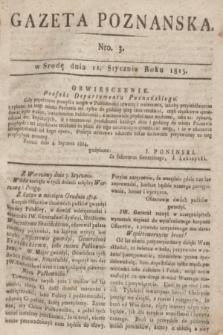 Gazeta Poznańska. 1815, Nro. 3 (11 stycznia) + dod.