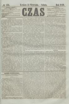 Czas. [R.2], № 173 (22 września 1849)
